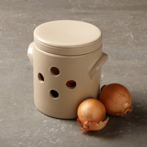 Stoneware Onion Pot