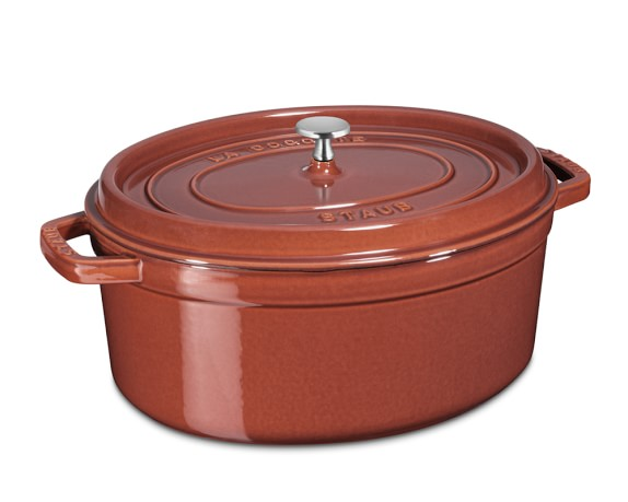 Staub Cast-Iron Oval Cocotte, 7-Qt., Red