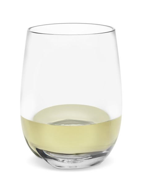 DuraClear® Osteria Stemless White Wineglass, Set of 6