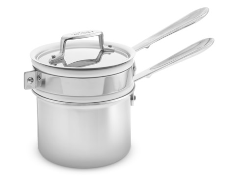 All-Clad d5 Stainless-Steel Double Boiler, 1.75-Qt