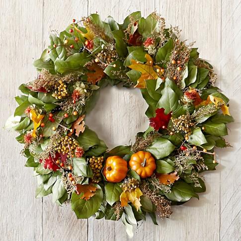 Fall Pumpkin Wreath, 22