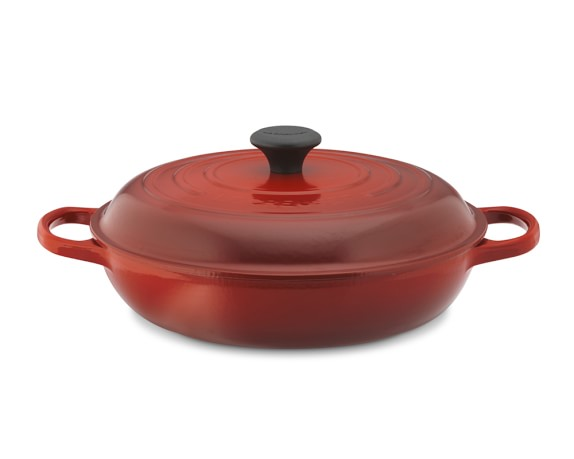 Le Creuset Signature Cast-Iron Braiser, 3 1/2-Qt., Red