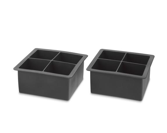 King Cube Silicone Ice Cube Trays, Set of 2