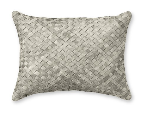 Woven Leather Hide Pillow Cover, 12