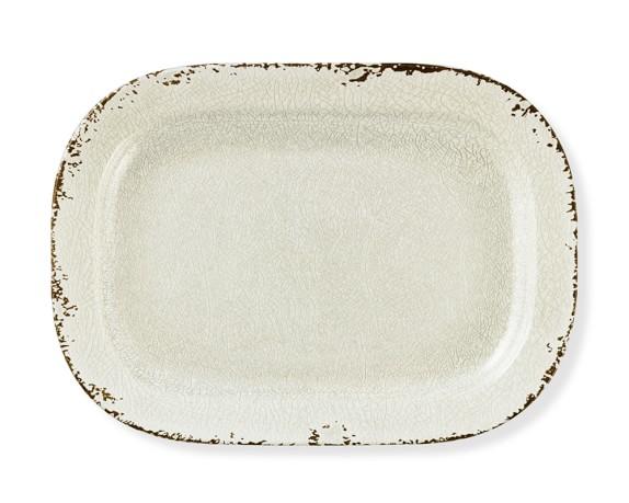 Rustic Melamine Platter, Ivory