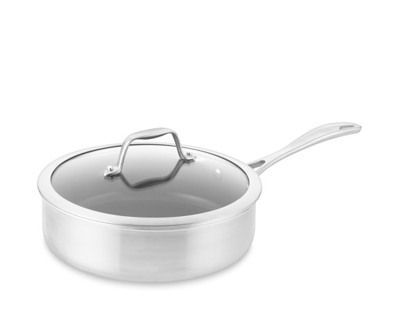 Zwilling Spirit Stainless-Steel Ceramic Nonstick Sauté Pan with Lid, 3-Qt.