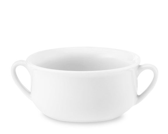 Large Double-Handled Soup Bowls, Set of 4