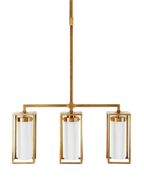 Baldwin Triple Pendant, Antique Brass