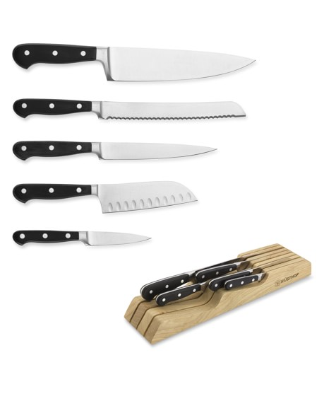 Wüsthof Classic 5-Piece Knife Set with Drawer Tray