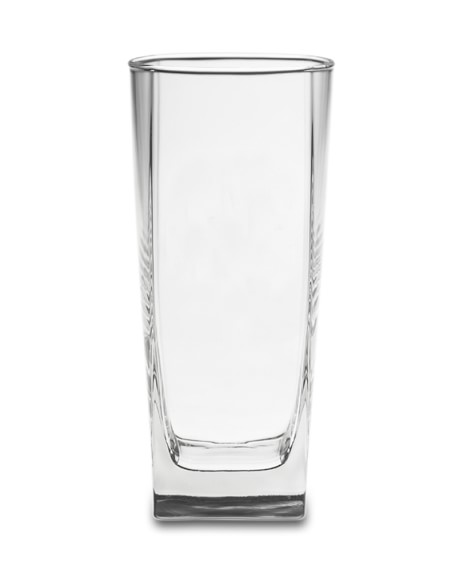 Square Highball Glasses, Set of 4