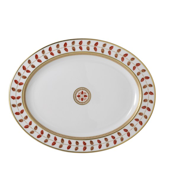 Bernardaud Constance Red Oval Platter