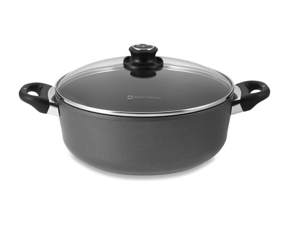 Swiss Diamond Nonstick Braiser with Lid, 5-Qt.