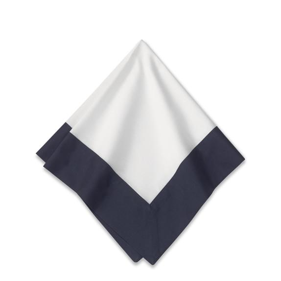 Wide Border Napkin, Navy