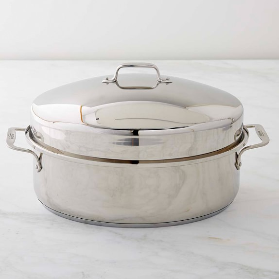 All Clad Stainless Steel Covered Oval Roaster Williams