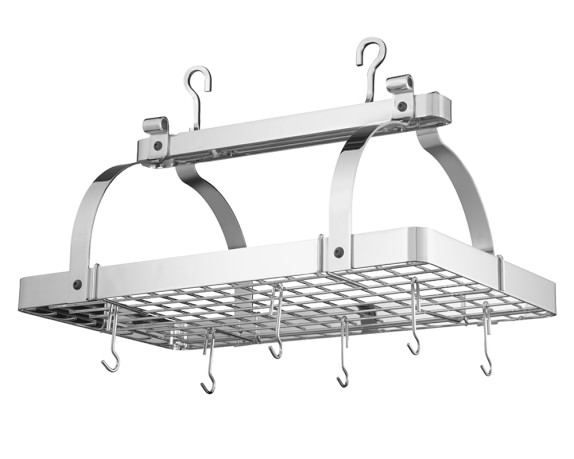 Enclume Classic Rectangular Pot Rack, Chrome Plated