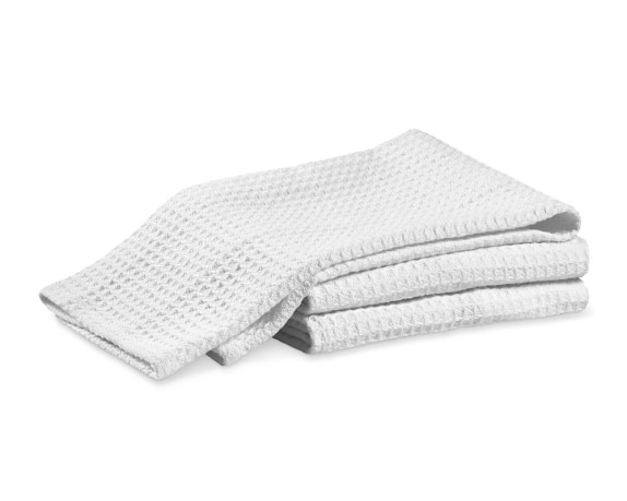 Jumbo Waffle Towels, Set of 3, White