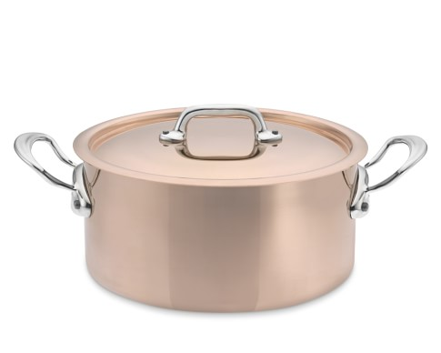 Mauviel M150S Copper Soup Pot, 5 1/2-Qt.