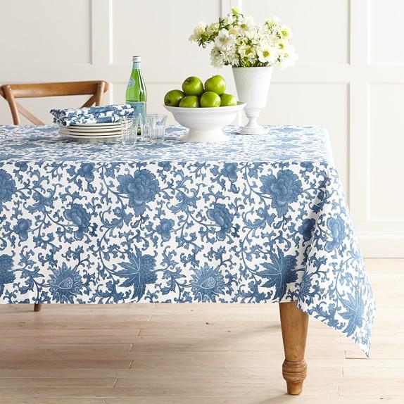Ginger Jar Floral Tablecloth, 70