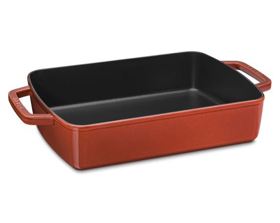 Staub Cast-Iron Large Baker, 6 3/4-Qt, Red