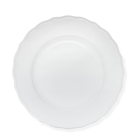 Alexia Dinner Plates, Set of 4, White