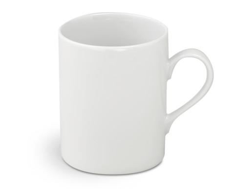 Brasserie All-White Porcelain Mugs, Set of 4