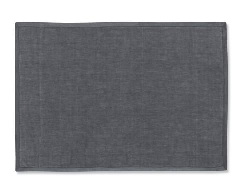 Silk Applique Border Place Mats, Set of 4, Charcoal