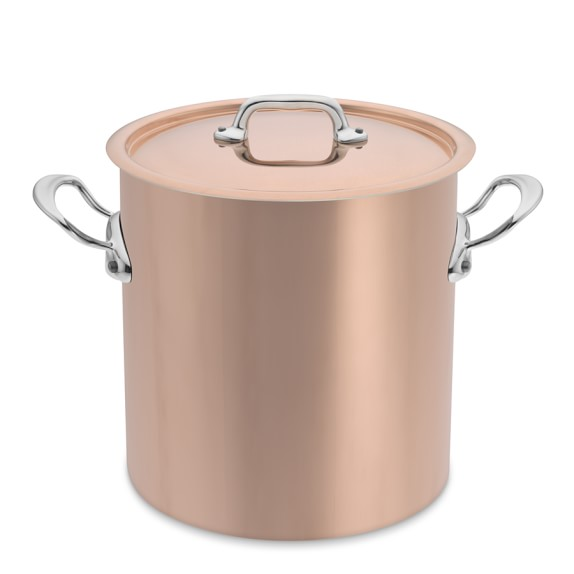 Mauviel M150S Copper Stockpot, 11 1/2-Qt.