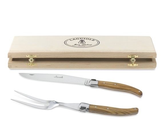 Laguiole Jean Dubost Olive Wood Carving Set