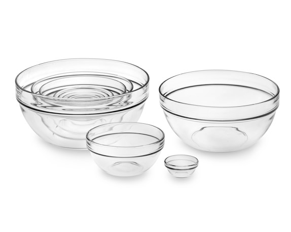 10-Piece Glass Mixing Bowl Set