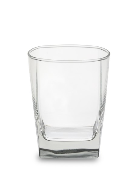 Square Double Old-Fashioned Glasses, Set of 4