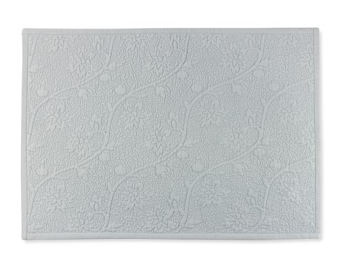 Vine Floral Boutis Place Mats, Set of 4, Grey