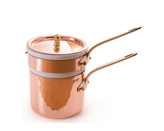 Mauviel Copper Double Boiler with Insert, 1-Qt.