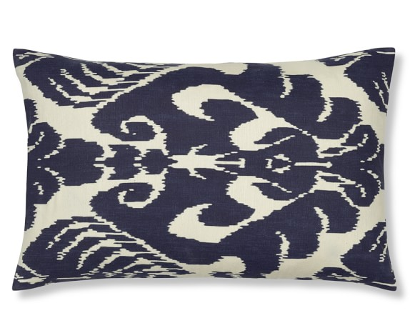 Silk Ikat Medallion Pillow Cover, 14