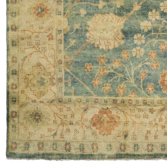 Spring Blossom Oushak Rug, 6' x 9'