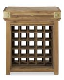 French Chef's Kitchen Island, Single Bordeaux with Wine Storage