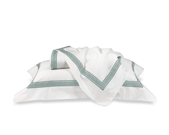 Classic Greek-Key Bedding, Sheets Set, Full/Queen, Seafoam