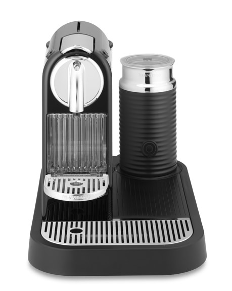 Nespresso Citiz Espresso Maker Platform with Aeroccino 3 Automatic Milk Frother, Black