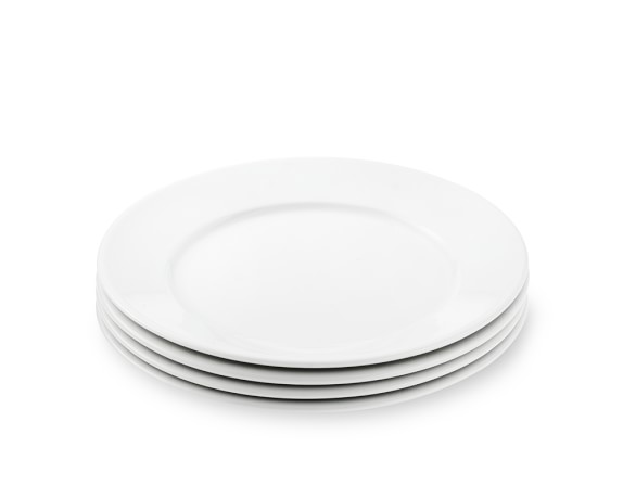 Apilco Tradition Porcelain Salad Plates, Set of 4