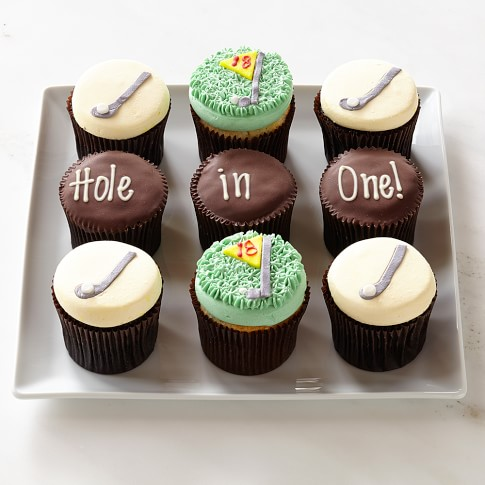 Personalized Golf Cupcakes, Set of 9