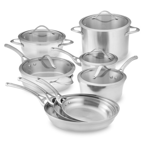 Calphalon Contemporary Stainless-Steel 13-Piece Cookware Set