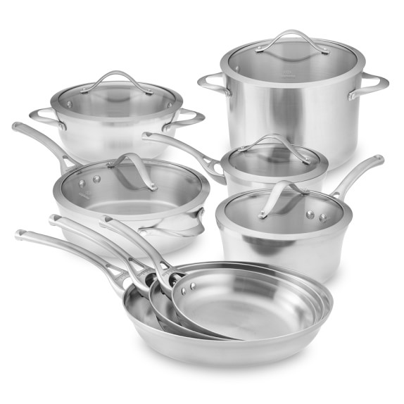 Calphalon Contemporary Stainless-Steel 13-Piece Cookware Set