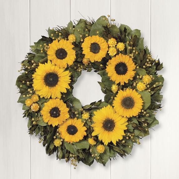Preserved Sunflower Wreath