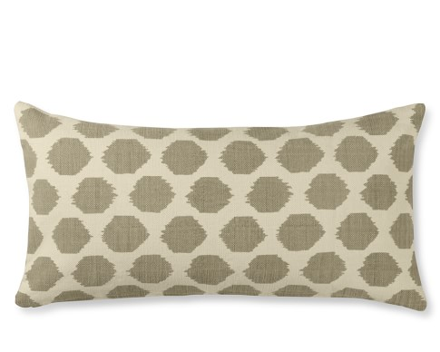 Ikat Dot Printed Canvas Pillow Cover, 15