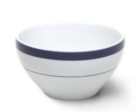 Brasserie Blue-Banded Porcelain Breakfast Bowls, Set of 4