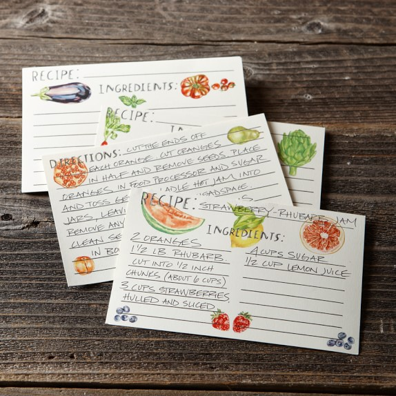 Recipe Cards, Set of 30