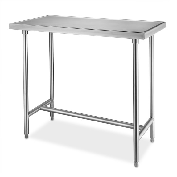 "Stainless-Steel Chef's Table, 4 Ft. (48"" x 24"" x 35 1/2"")"
