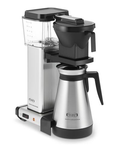Technivorm KBGT741 Moccamaster Coffee Maker with Thermal Carafe, Brushed Silver