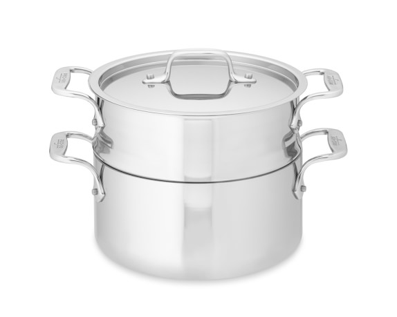 All-Clad Tri-Ply Stainless-Steel Steamer Set, 3-Qt.