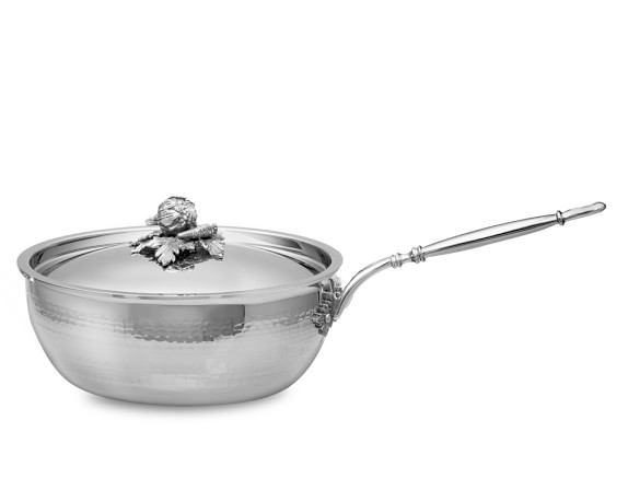 Ruffoni Opus Prima Hammered Stainless-Steel Chef's Pan