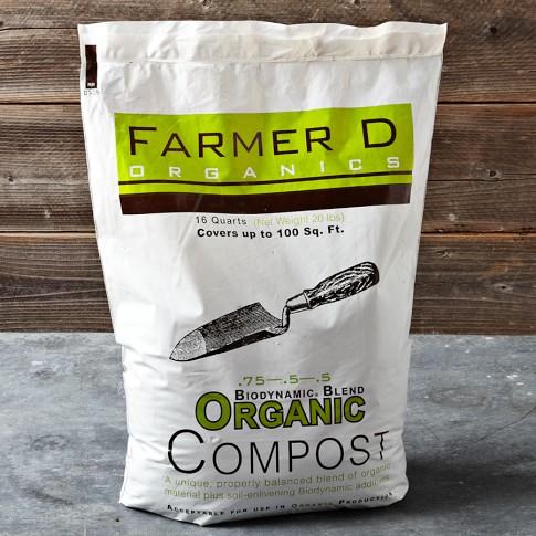 Farmer D Biodynamic Blend Organic Compost Mix, 16-Qt. Bag